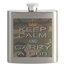 Keep Calm and Carry A Gun Flask