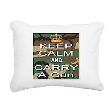 Keep Calm and Carry A Gun Rectangular Canvas Pillo