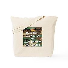 Keep Calm and Carry A Gun Tote Bag