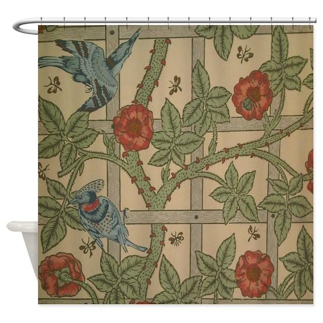 William Morris Trellis: William Morris Trellis Design Shower Curtain By FineArtDesigns