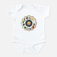 Whimsical Zodiac Wheel Infant Bodysuit