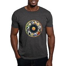 Whimsical Zodiac Wheel T-Shirt