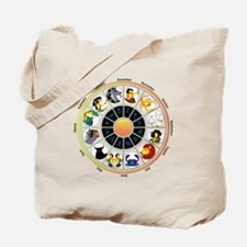Whimsical Zodiac Wheel Tote Bag