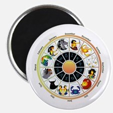 Whimsical Zodiac Wheel Magnet