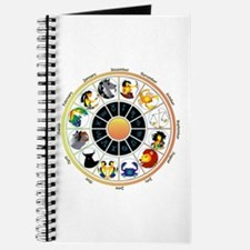 Whimsical Zodiac Wheel Journal