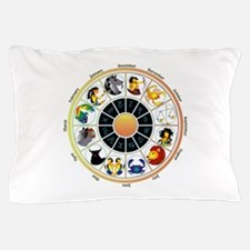 Whimsical Zodiac Wheel Pillow Case