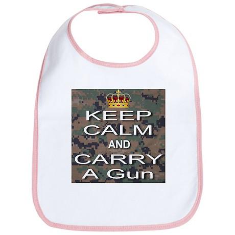 Keep Calm and Carry A Gun Bib