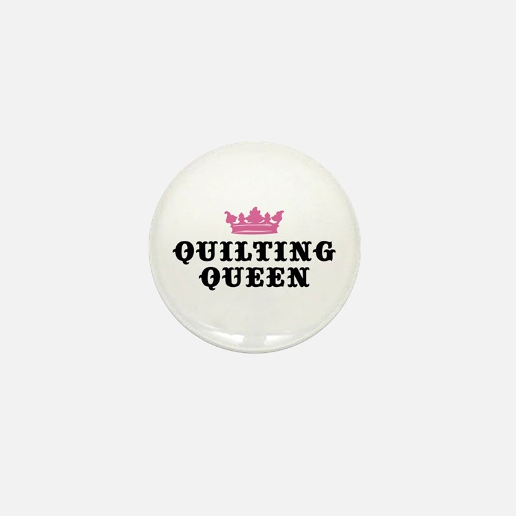 Quilting Queen Mini Button