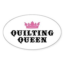 Quilting Queen Oval Bumper Stickers