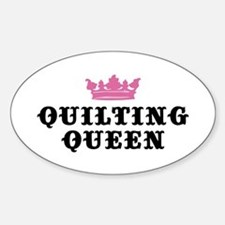 Quilting Queen Oval Stickers