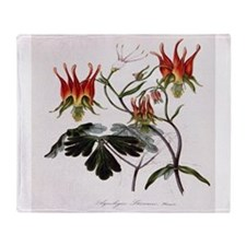 Aquilegia Skinneria Throw Blanket