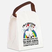 Unicorns Are Fabulous Canvas Lunch Bag