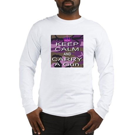 Keep Calm and Carry A Gun Long Sleeve T-Shirt