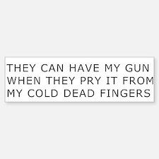 Cold Dead Fingers Bumper Bumper Bumper Sticker
