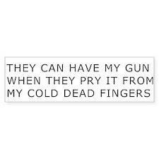 Cold Dead Fingers Bumper Bumper Sticker
