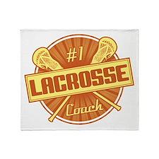 #1 Lacrosse Coach Throw Blanket