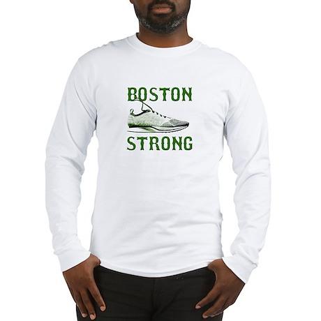 Boston Strong - Running Shoe Long Sleeve T-Shirt