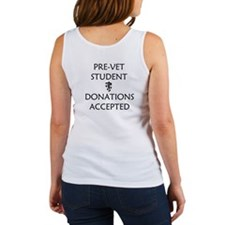 Pre-Vet Student - Donations Accepted Women's Tank