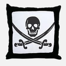 Calico Jack Pirate Throw Pillow