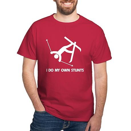 Snow Ski, Skiing Stunts Dark T-Shirt