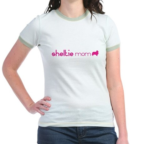 Sheltie Mom Jr. Ringer T-Shirt