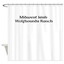 Midwest Irish Wolfhounds Ranch Shower Curtain