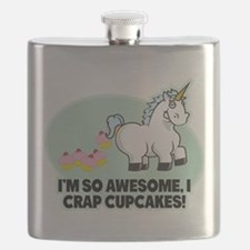 Crapping Cupcakes Flask