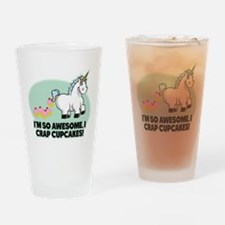 Crapping Cupcakes Drinking Glass