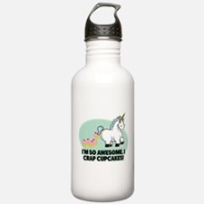 Crapping Cupcakes Water Bottle