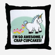 Crapping Cupcakes Throw Pillow