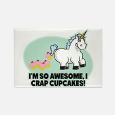 Crapping Cupcakes Rectangle Magnet
