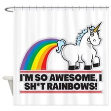 Awesome Rainbows Shower Curtain