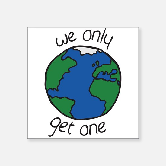 one earth Sticker