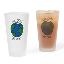 one earth Drinking Glass