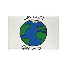 one earth Rectangle Magnet