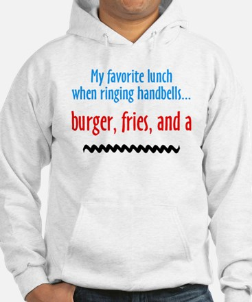 Burger Fries and a Shake Jumper Hoody (white)
