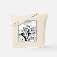 Ginger Scientist Monkey Tote Bag