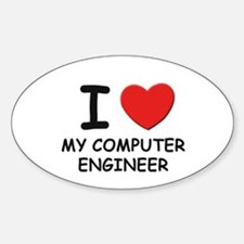 I love computer engineers Oval Decal