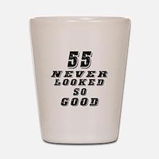 55 Birthday Designs Shot Glass