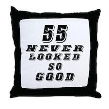 55 Birthday Designs Throw Pillow