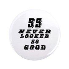 "55 Birthday Designs 3.5"" Button"