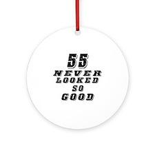 55 Birthday Designs Ornament (Round)