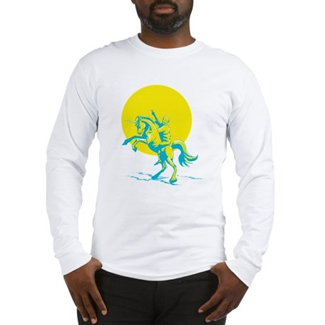 Gandhi on a Unicorn Long Sleeve T-Shirt