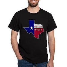 Native Texan Flag Map T-Shirt