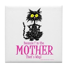 MOTHER'S DAY CAT Tile Coaster