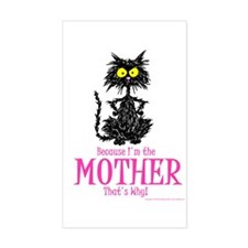 MOTHER'S DAY CAT Rectangle Decal