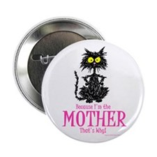 MOTHER'S DAY CAT Button