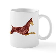 Leaping Red Doberman Mug