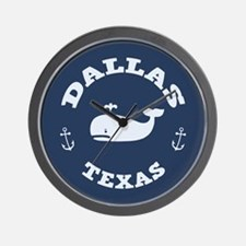 Dallas Whale Excursions Wall Clock
