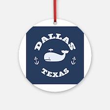 Dallas Whale Excursions Ornament (Round)